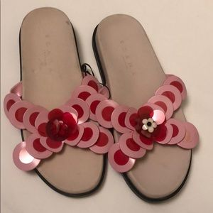 Zara sandals pink missing red circle can be glued
